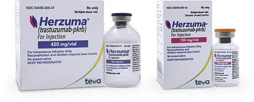 HERZUMA vial and packaging